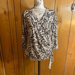 Dress barn wrap blouse